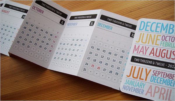 Design Pocket Calendar Template