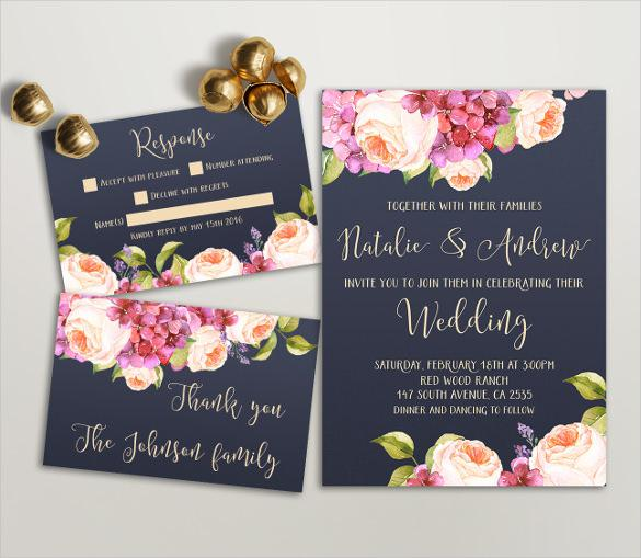 Designed Wedding Invitation Template Download