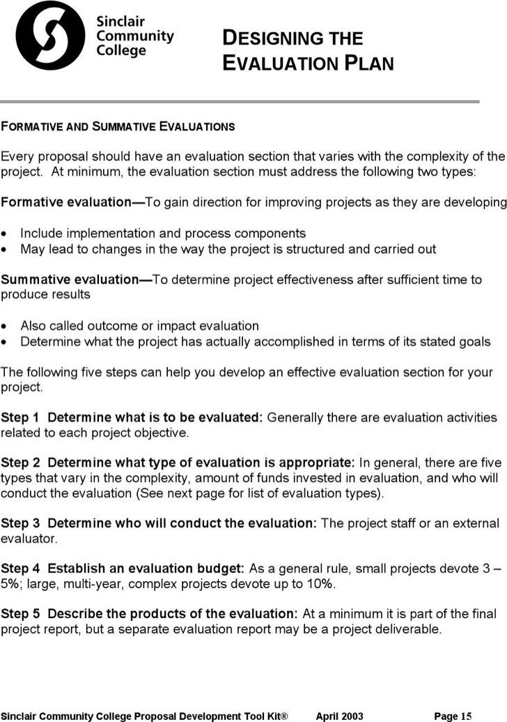 Designing Evaluation Plan