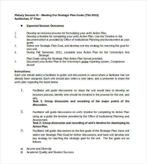 Diabetes Strategy Action Plan Template PDF Format