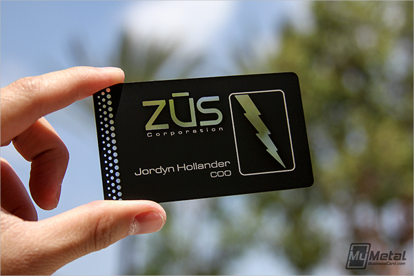 Die Cut Metal Business Card