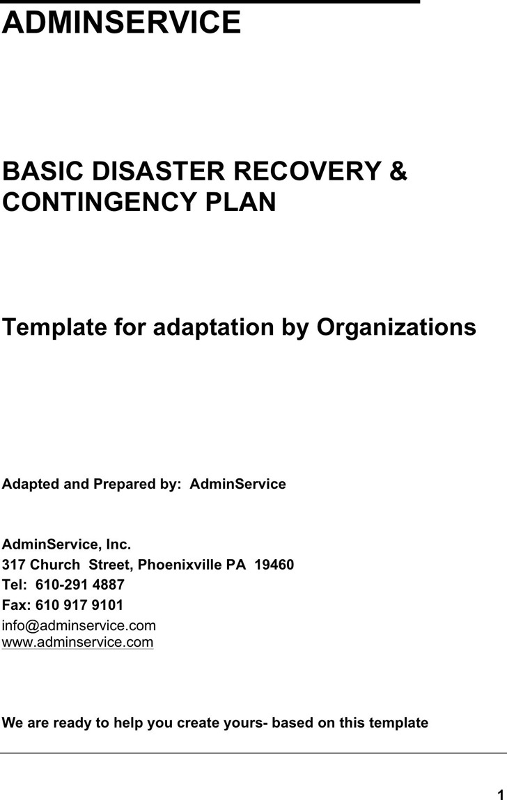 Disaster Recovery Plan Template 3