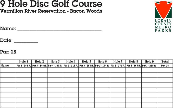 Disc Golf Scorecard