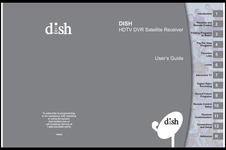 Dish Owners Manual Sample
