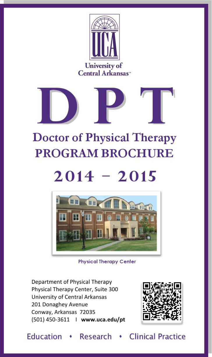 Doctor Of Physical Therapy Program Brochure