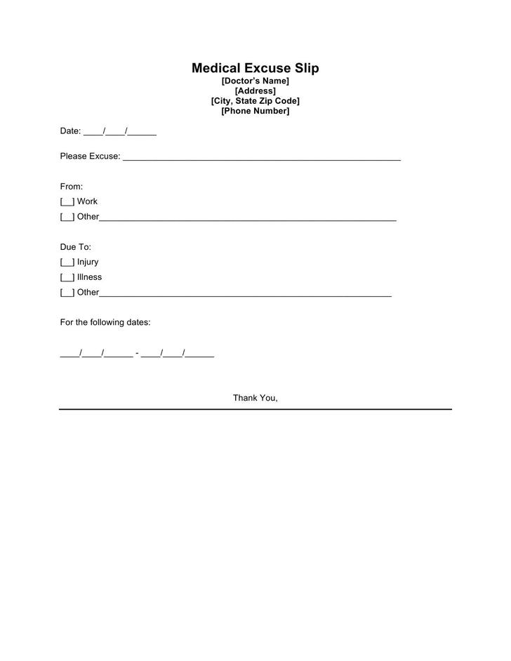 8 doctor excuse template free download doctors excuse template free maxwellsz