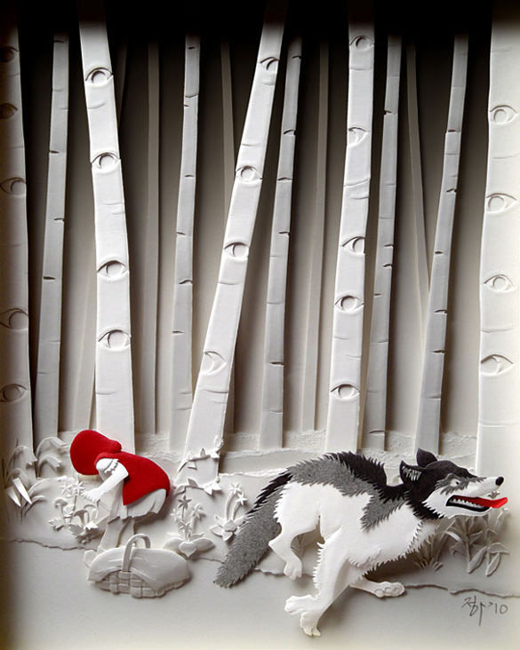 Dog Paper Art Design