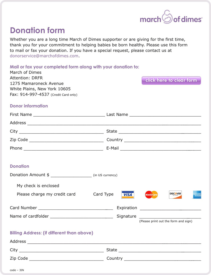 Donation Form 1
