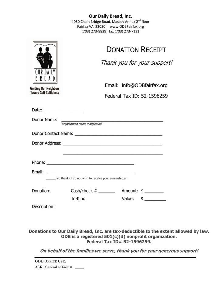 Donation Receipt PDF Download