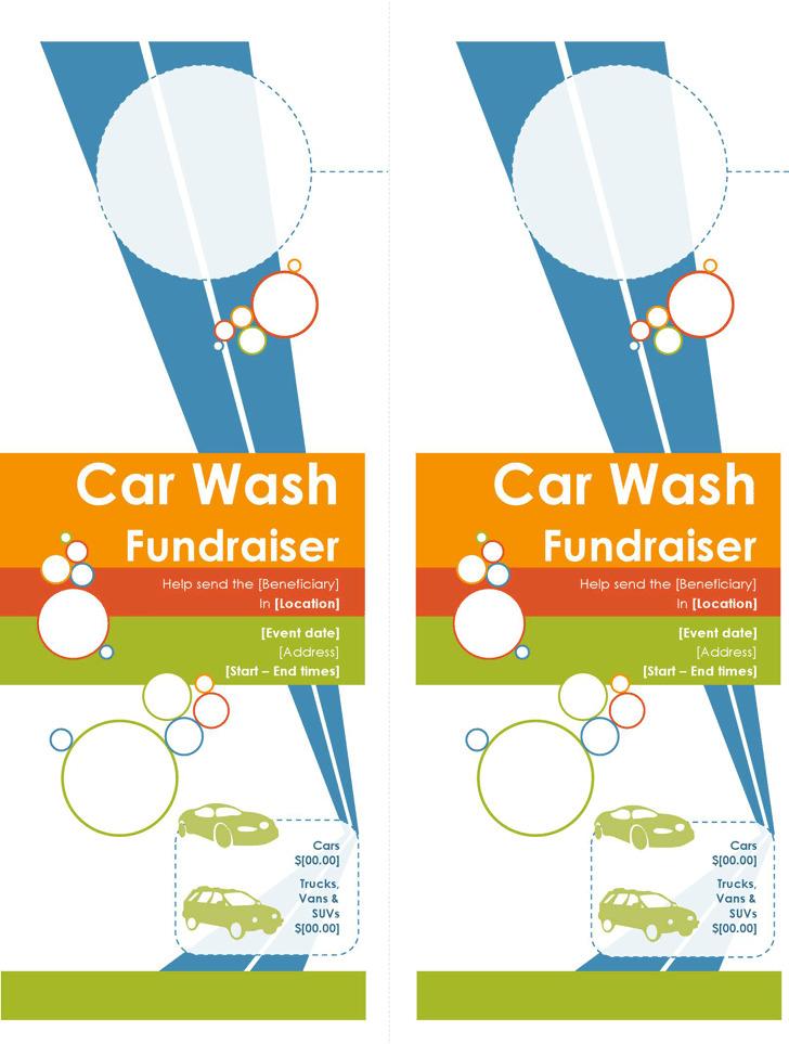 Door Hanger for Car Wash Fundraiser