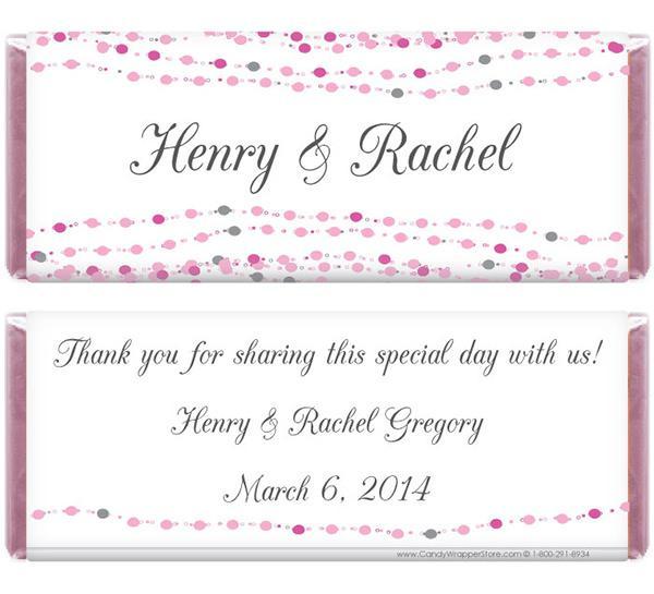 Dots Wedding Candy Bar Wrapper