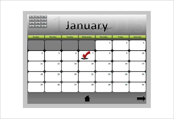 Download Calendar Powerpoint Schedule Template Editable