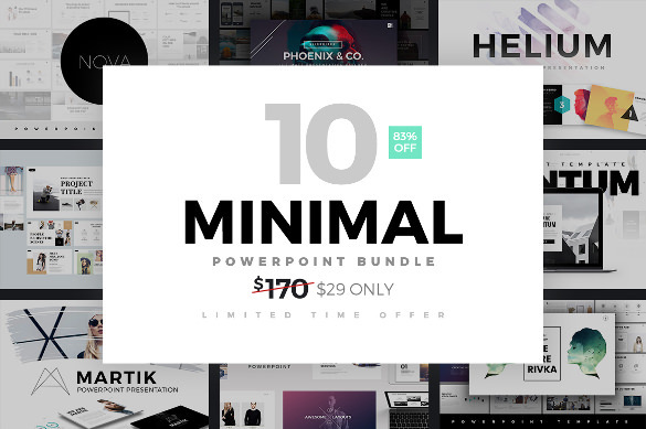 Download Creative Minimal PowerPoint Template Bundle