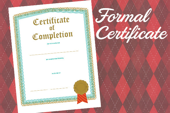 Download Formal Certificate of Completion PDF Format Printable