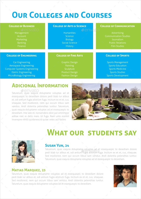 Download Graduate School Educational Brochure Template