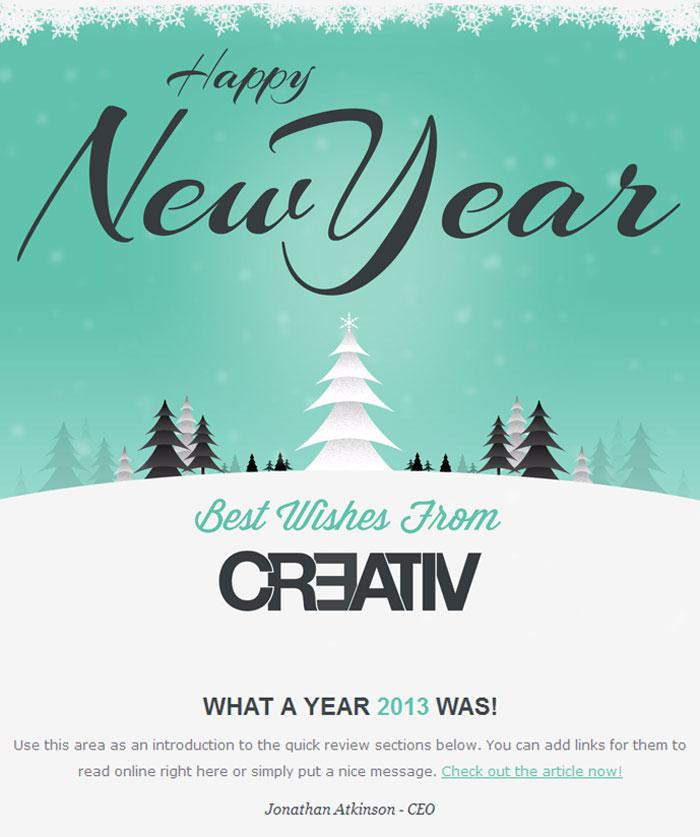 Download Download New Year Wishes Responsive Email Template For Free