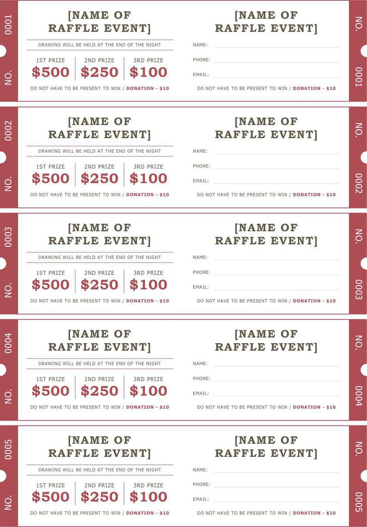 Download Raffle Ticket Template Word Format