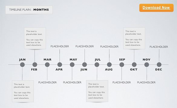 Download Timeline Keynote Template Month Example