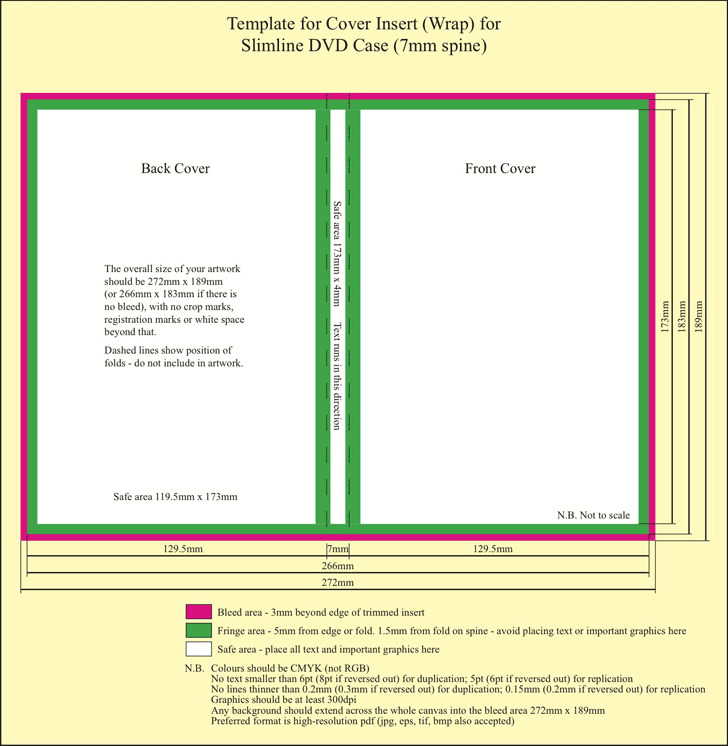 DVD Cover Template 7mm