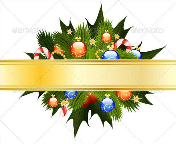 E Christmas Cards Template Vector EPS