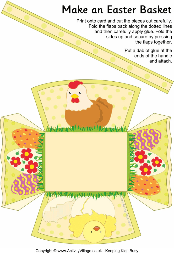 Easter Basket Template 1