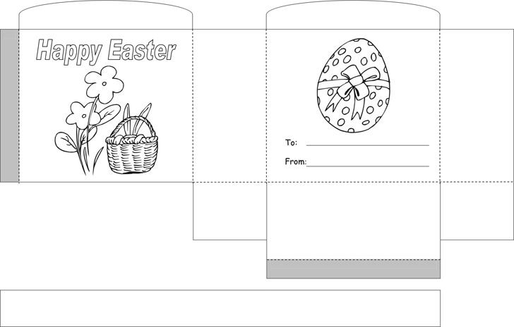 Easter Basket Template 3