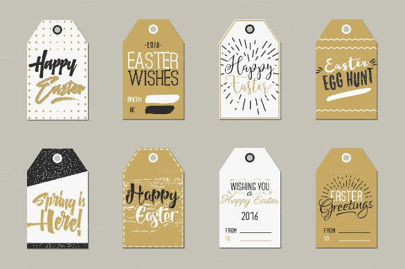 Easter Gift Tags Collection Printable Template