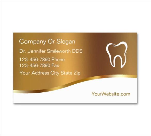 Editable Dentist Business Card