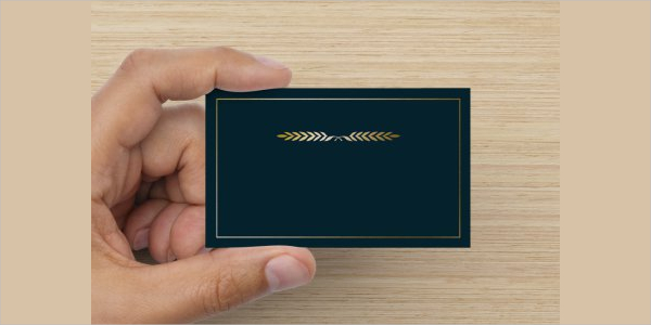 Editable Embossed Business Card Template
