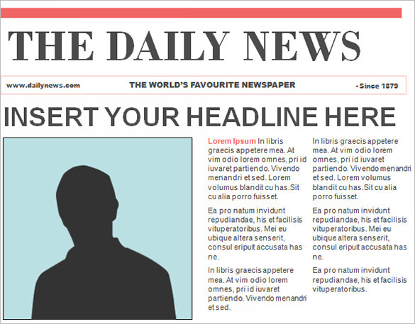 Editable PowerPoint Newspaper Template Free