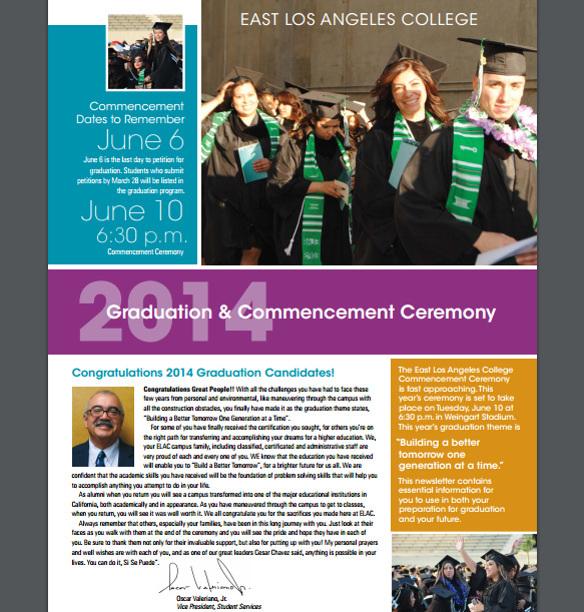 ELAC Graduation Brochure Template PDF Download