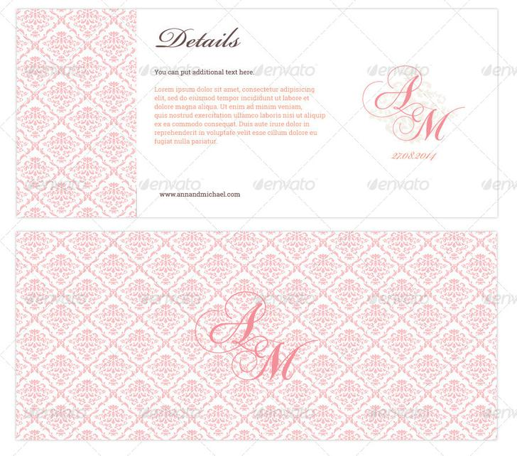 Elegant Boarding Pass Wedding Invitation Download - $4