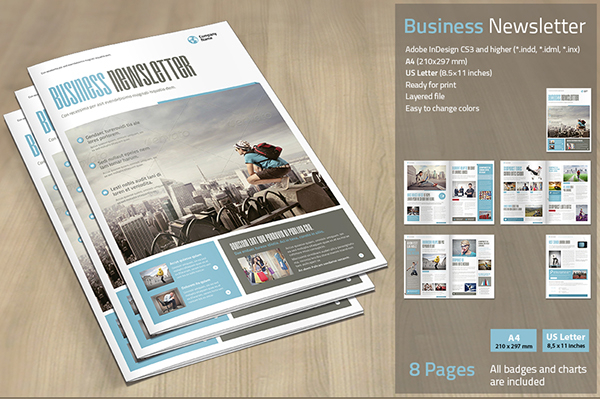 Elegant Corporate Newsletter Template
