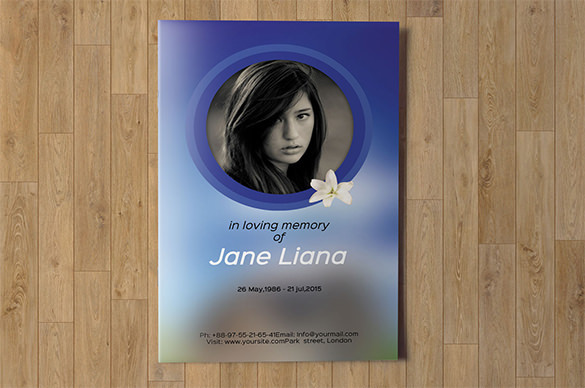 Elegant Funeral Program Brochure Template