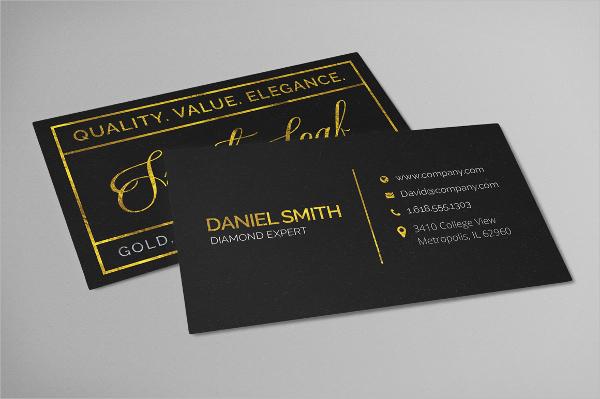 Elegant Gold Foil Business Card