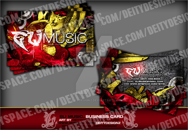 Eli Music Business Card Template
