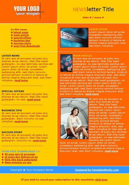 Email Newsletter Template Free Download
