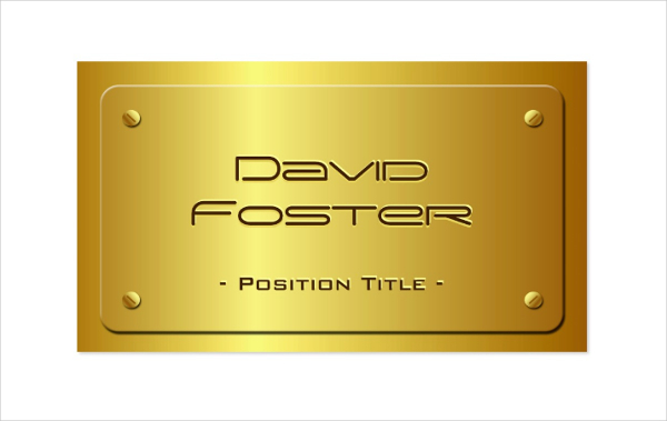 Embossed Gold Plate Luxury Business Card