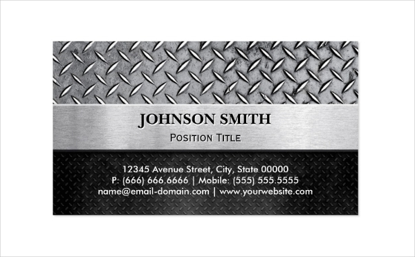 Embossed Metal Business Card