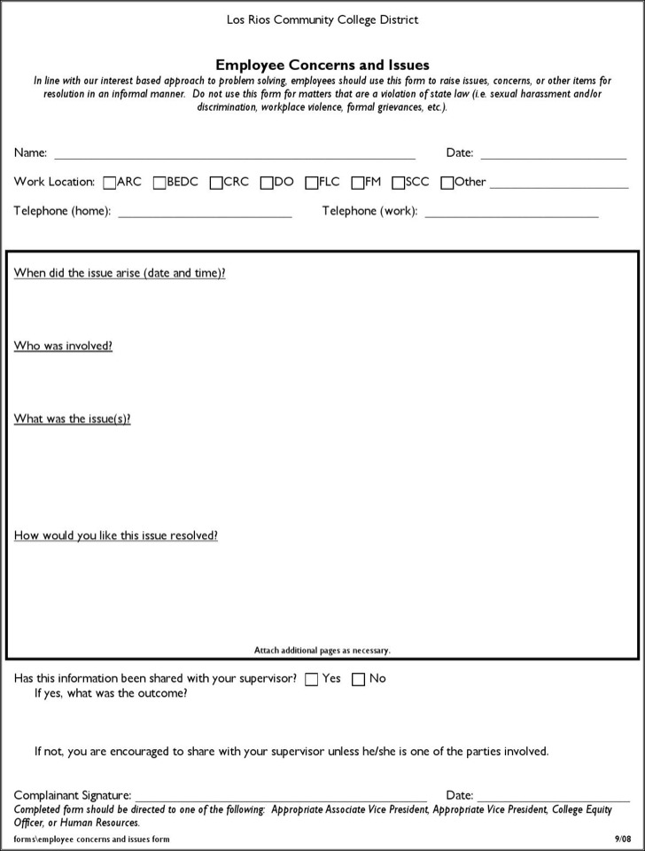 Download HR Complaint Forms for Free - TidyTemplates