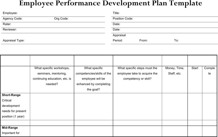 Employee Development Plan Template1