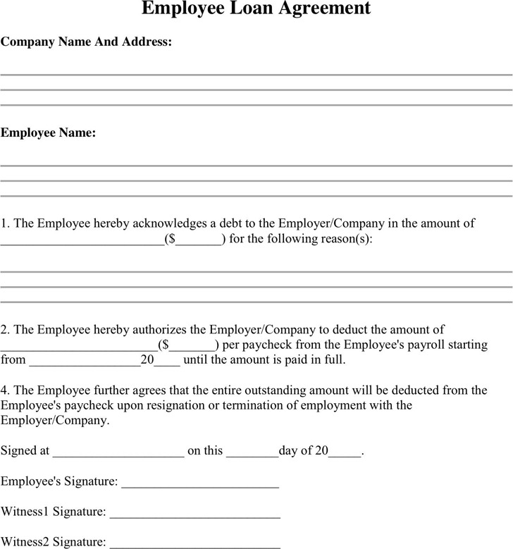 Download Employee Loan Agreement for Free - TidyTemplates