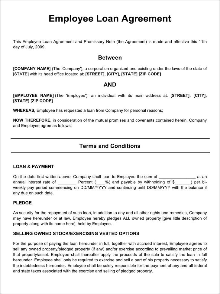 Employee Loan Agreement 2