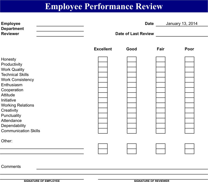 Employee Review Form 2