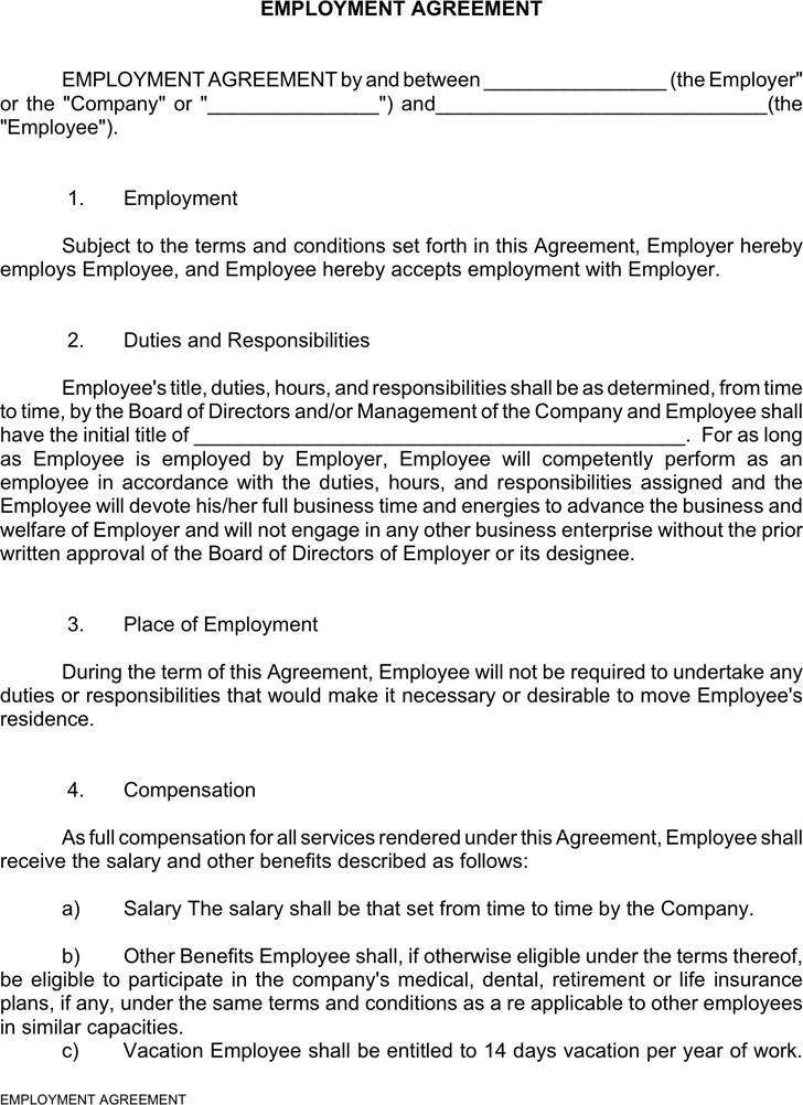 Employment Agreement 1