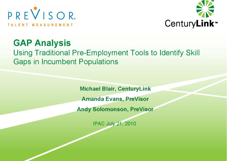 Employment Training Gap Analysis Sample
