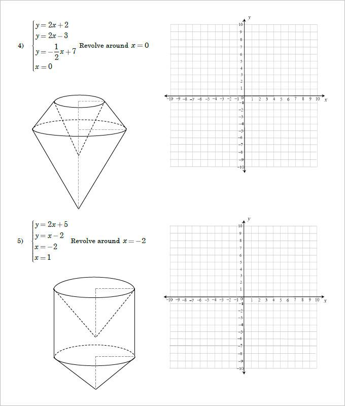 End of the Year High School Geometry Worksheet Template