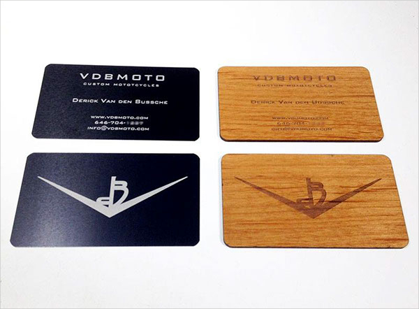 Engraved Metal Business Card