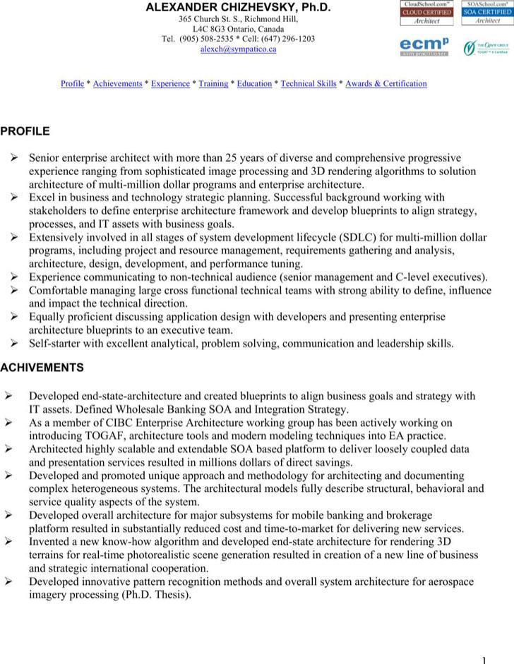 Enterprise Architect Resume