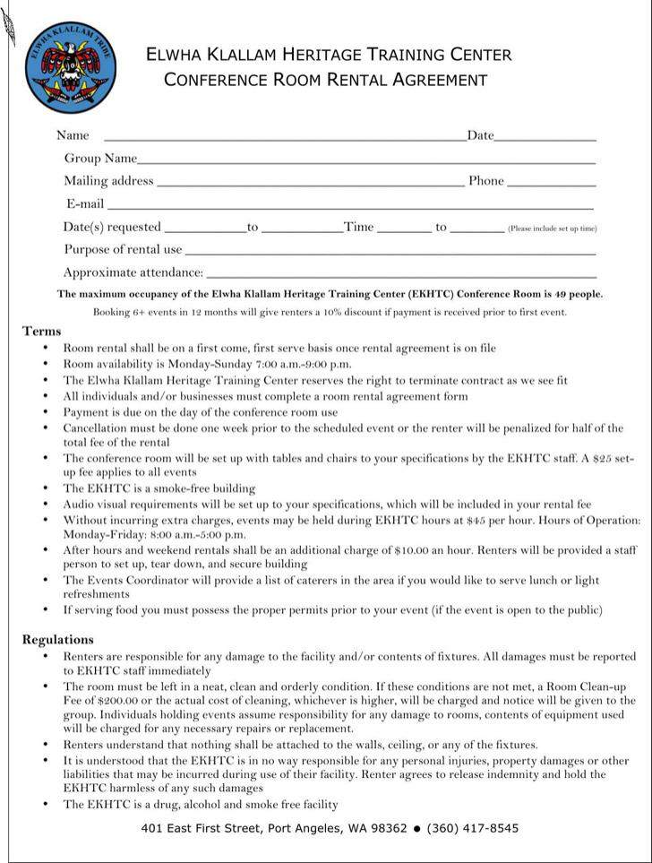 Enterprise Conference Room Rental Agreement